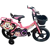 Global Bikes Princess 14T Kids Bicycle for 2 to 5 Years Kids Fully Adjustable with Back Support for Boys and Girls (14T,Carrier)