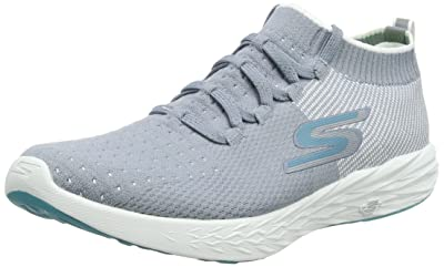 Skechers Womens GOrun 6 Gray/White 7 B