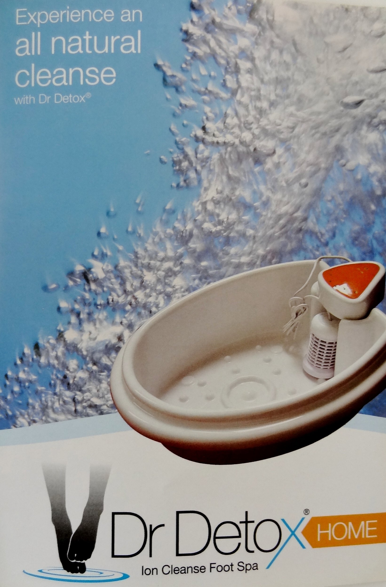 Foot Spa - DR. DETOX - Ion Detox Ionic Foot Bath Spa Chi Cleanse Unit for Home Use. Comes with Free Extras! 1 Year Warranty