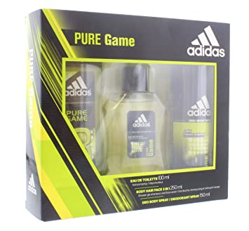 ADIDAS PURE GAME EDT 100ML VAPO + DEO SPRAY 150 ML+ GEL