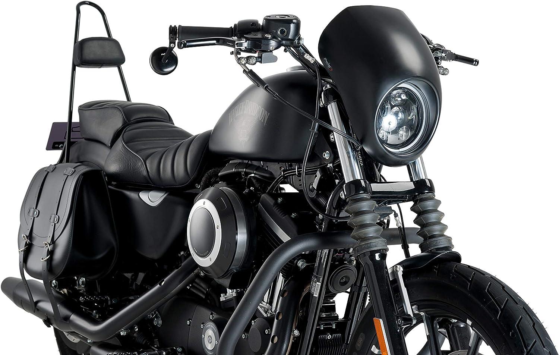 Customacces AZ1108N Semicarenado Modelo Anarchy Negro Mate Harley Davidson Sportster 883 Low 04-10
