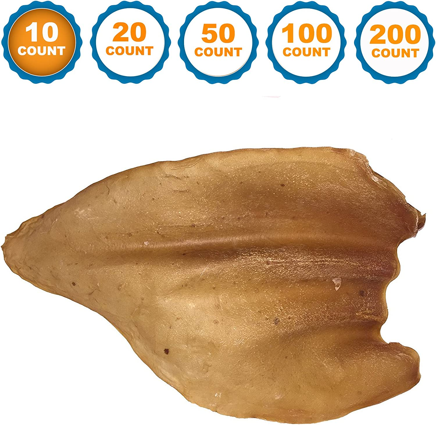 Dog Chews Cow Ears 100/% Natural Animal Ears from Free Range Grass Fed Cattle with No Hormones Additives or Chemicals 123 Treats