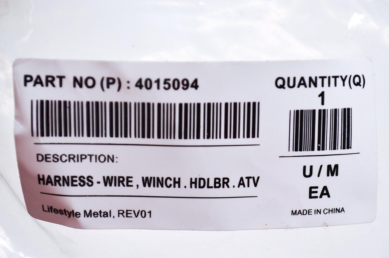 Polaris Oem Harness Wirewinchhdlbratv 4015094 Atv Winch Wiring Automotive
