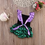Hotone Baby Girl Sequins Mermaid Bodysuit Romper
