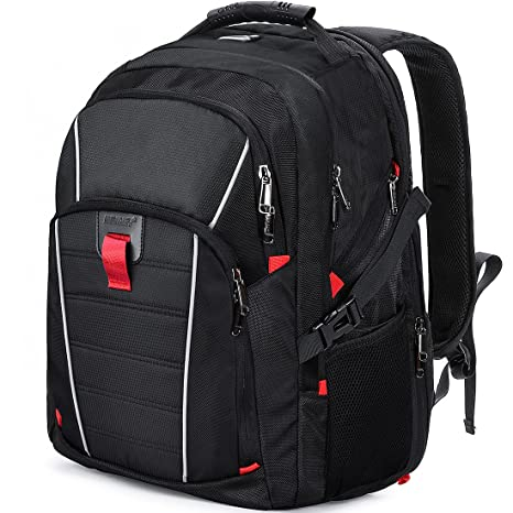 2e3695c1099 Laptop Backpack Travel 17.3 Inch Waterproof USB Charging Port Business  College Students Gaming Computer Bag Large