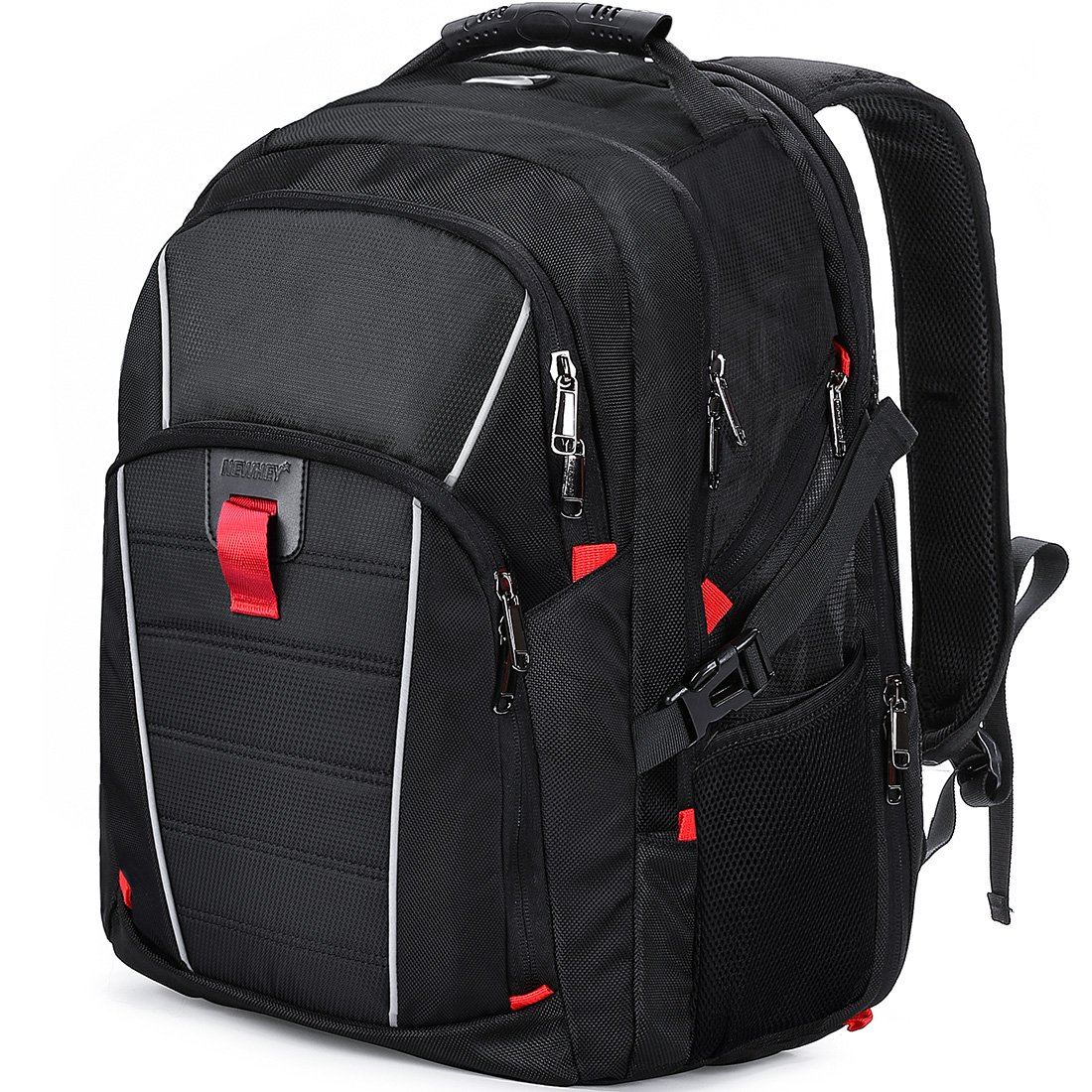 Laptop Backpack Travel 17.3 Inch Waterproof USB Charging Port Business College Students Gaming Computer Bag Large Capacity Backpack for Men Women Black