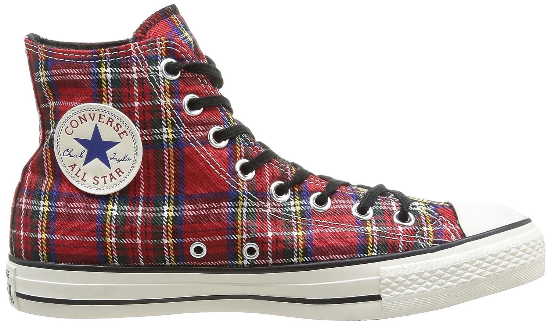 Converse Men all star hi textile multi red tartan 3 5 Amazoncouk Shoes  Bags