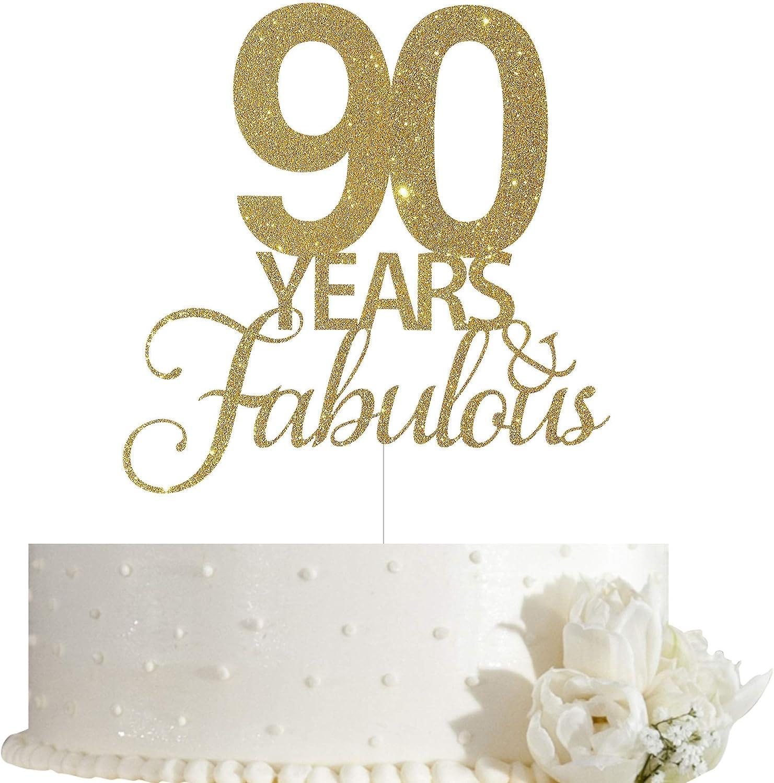 Marvelous Amazon Com 90 Years Fabulous Cake Topper 90Th Birthday Cake Personalised Birthday Cards Petedlily Jamesorg