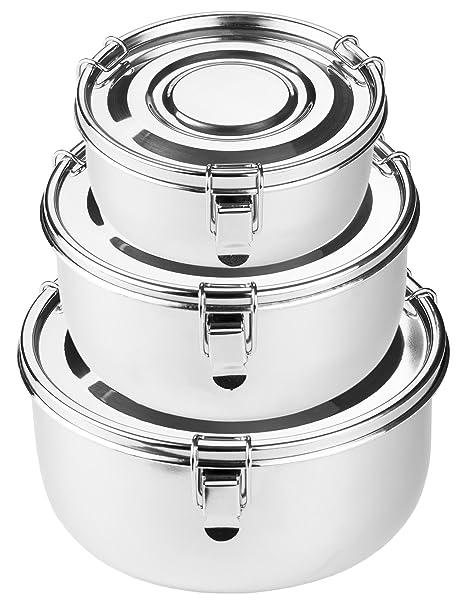Amazoncom Premium Stainless Steel Food Storage Containers 316