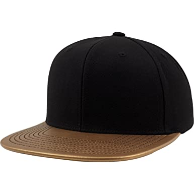 c5ba2b72808 Flexfit Metallic Visor Snapback Cap (One Size) (Gold) at Amazon ...