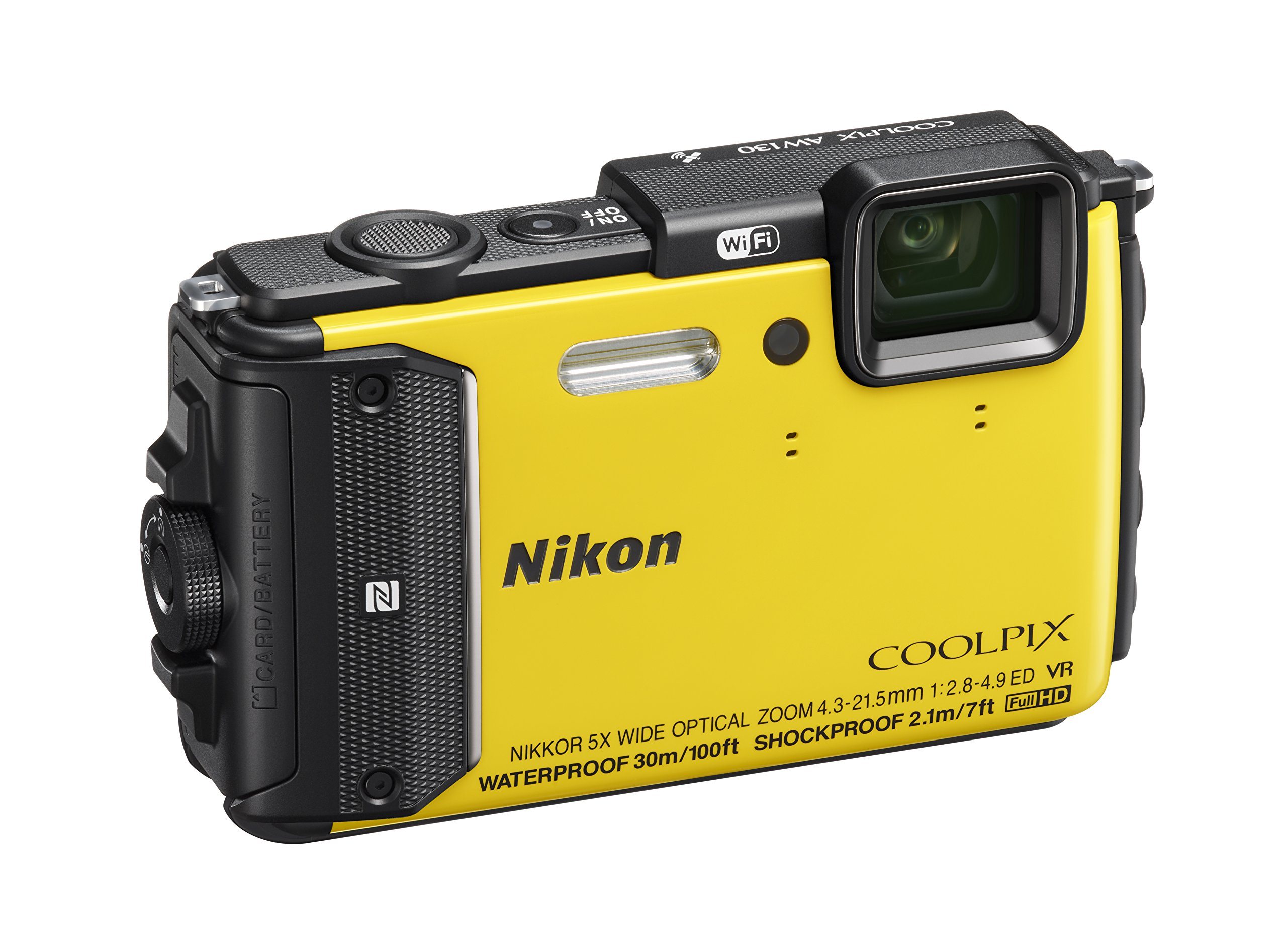 Nikon COOLPIX AW130 Waterproof Digital Camera with Built-In Wi-Fi (Yellow) by Nikon