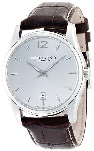 5b1e4b8b5dfe Hamilton Reloj Analogico para Hombre de Automático con Correa en Cuero  H38515555  Amazon.es  Relojes