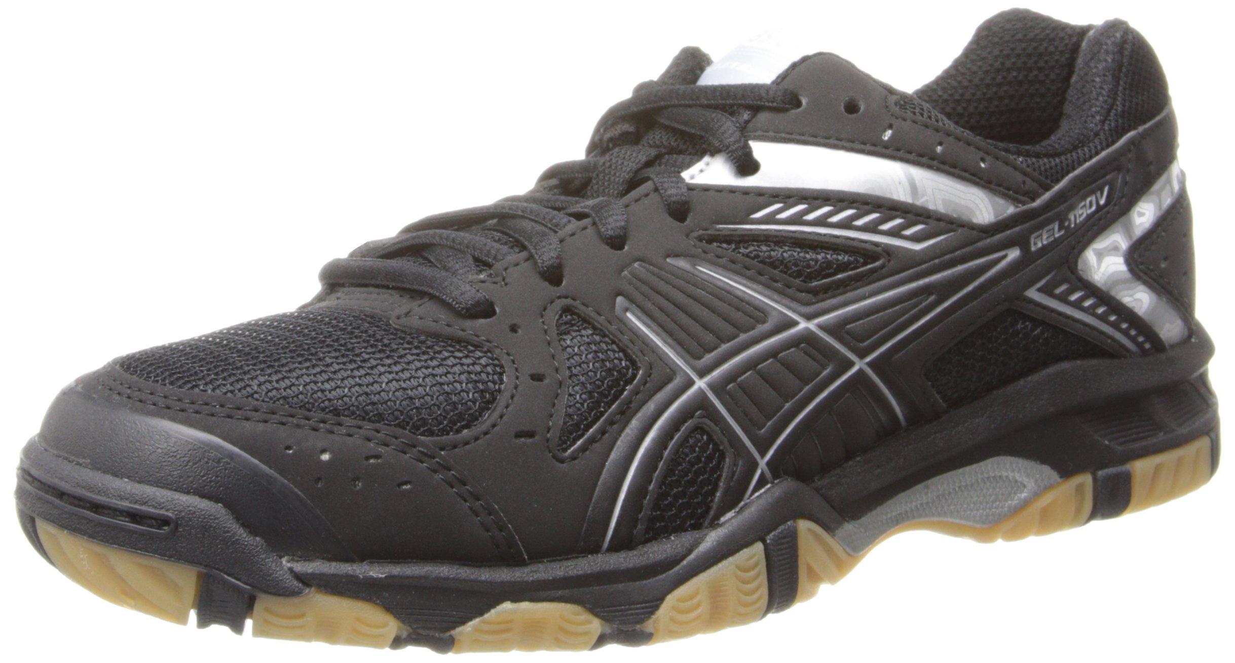 ASICS Women's Gel 1150V Volley Ball Shoe,Black/Black/Silver,6.5 M US
