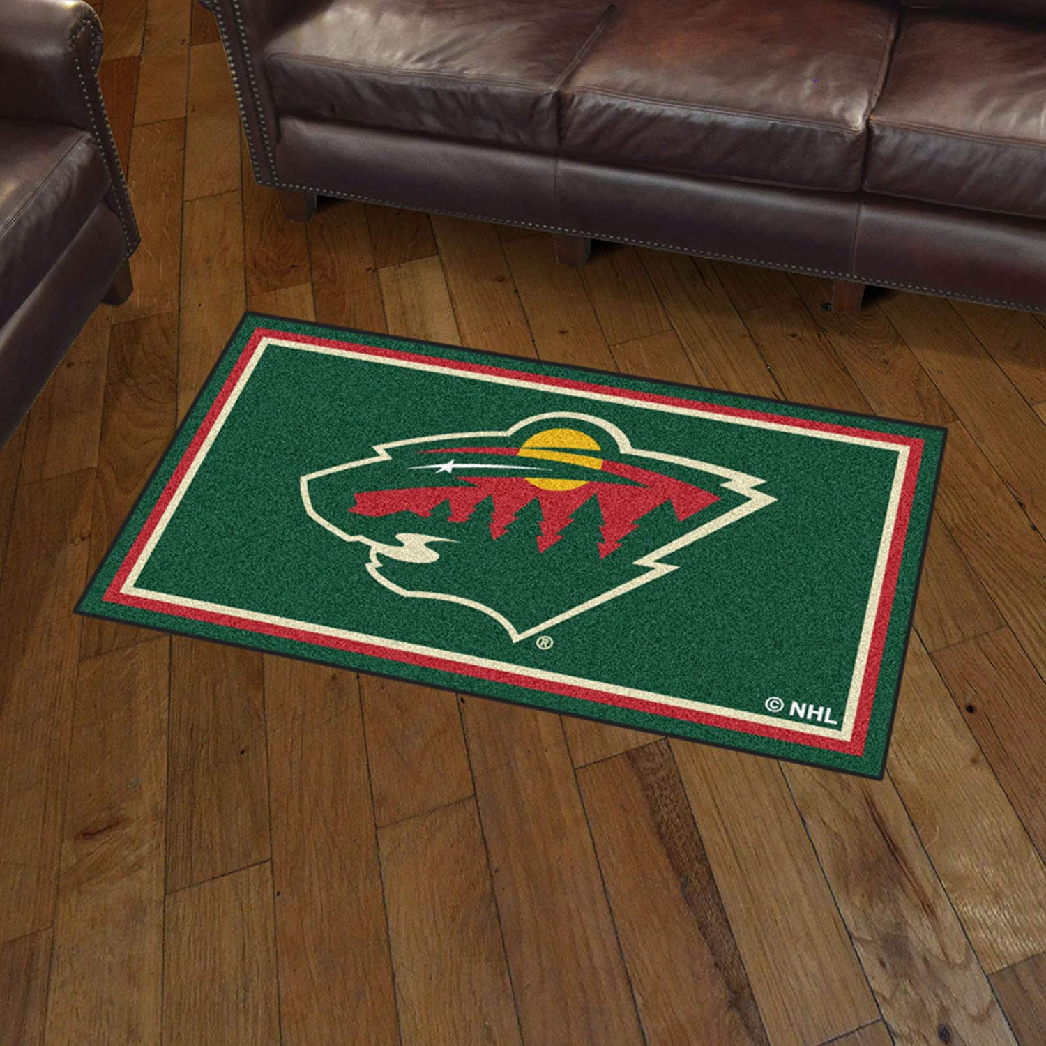Area Rug Area RUG3 Ft x 5 Ft 3 x 5 x 5 Ft FANMATS NHL Minnesota Wild 3 Ft Green