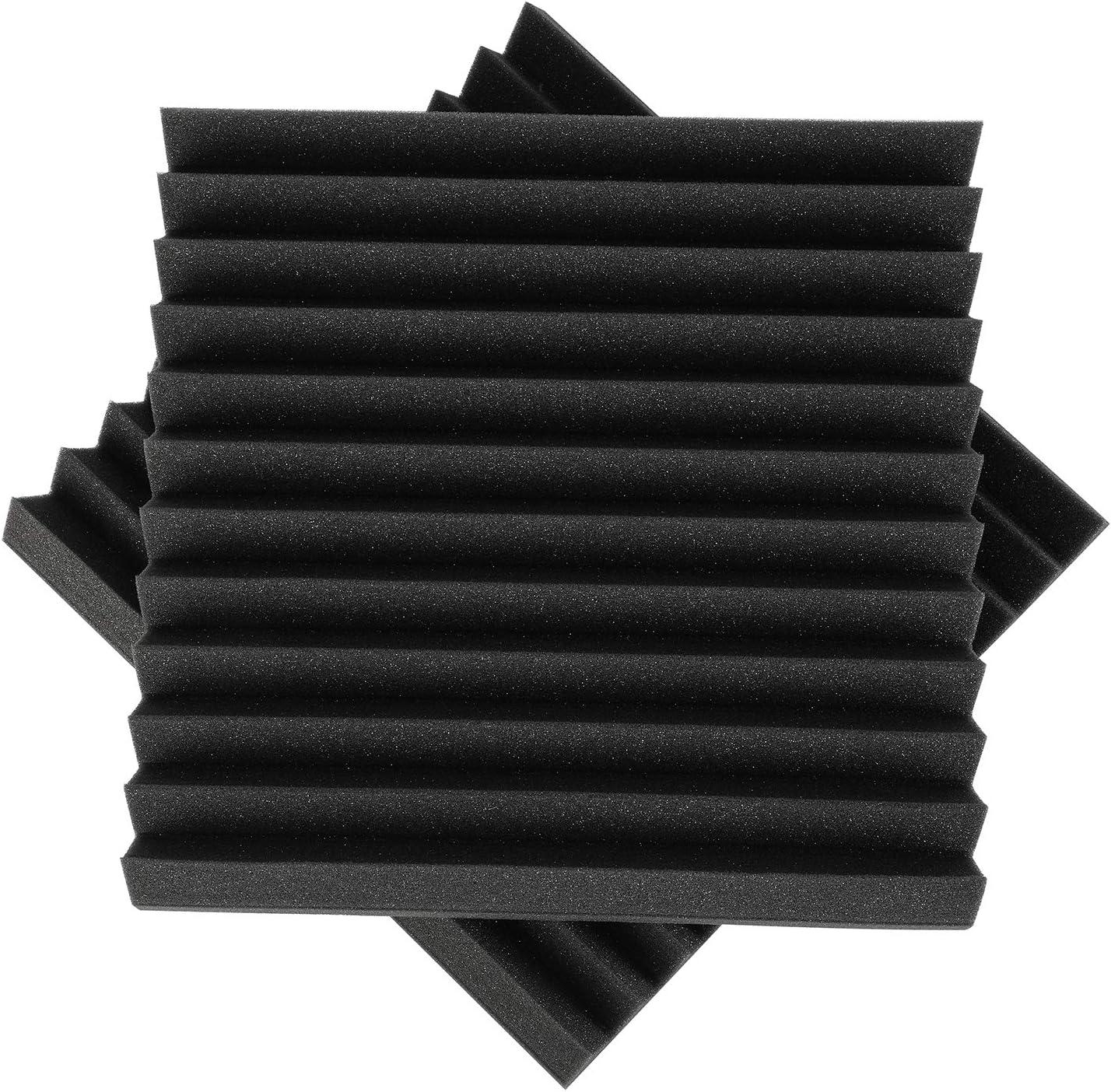 Donner Pannelli Fonoassorbenti Piramidali Correzione Acustica per Studio di registrazione Ufficio da 12 pezzi Misura 35 35 5 cm