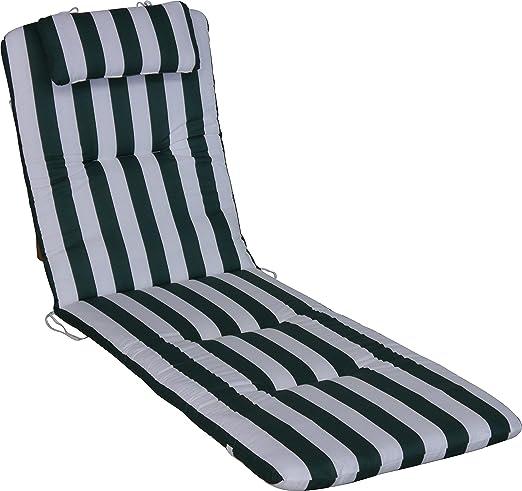 Angerer cojín para Silla 60 x 190 cm, diseño Verde-Blanco ...