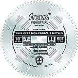 Freud LU77M010 10-Inch 80 Tooth TCG Thin Kerf Non-Ferrous Metal Cutting Saw Blade with 5/8-Inch Arbor