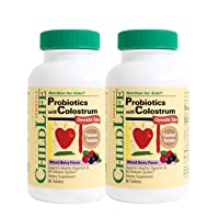 ChildLife Essentials, ChildLife Essentials Probiotics Plus Colostrum Chewable Tablets...