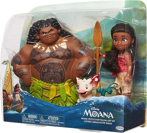Jakks Pacific - Caja 4 Figuras Oceania Vaiana Maui Pua HeiHei Disney Originales: Amazon.es: Juguetes y juegos