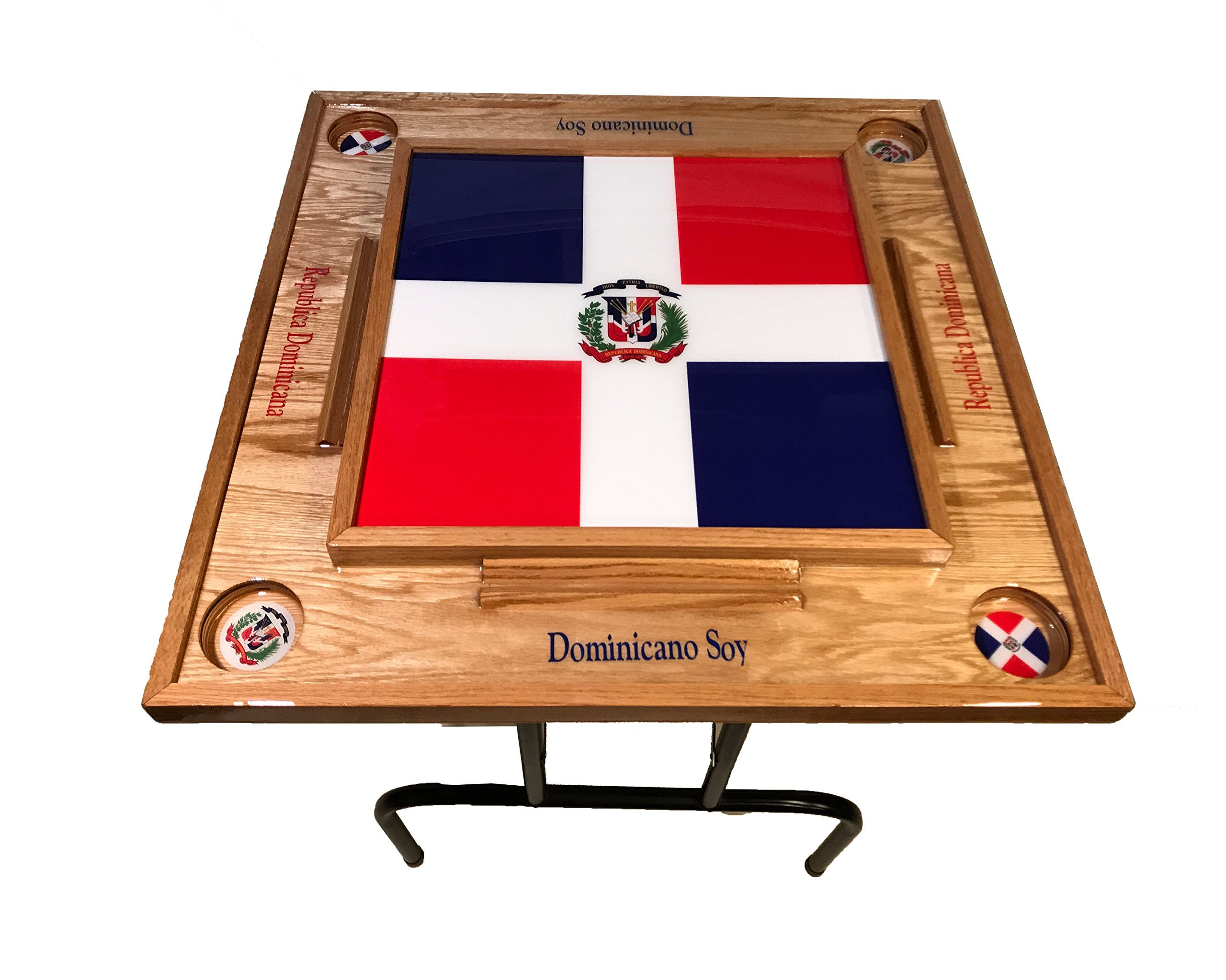 Dominican Republic Domino Table with the Flag Full by latinos r us