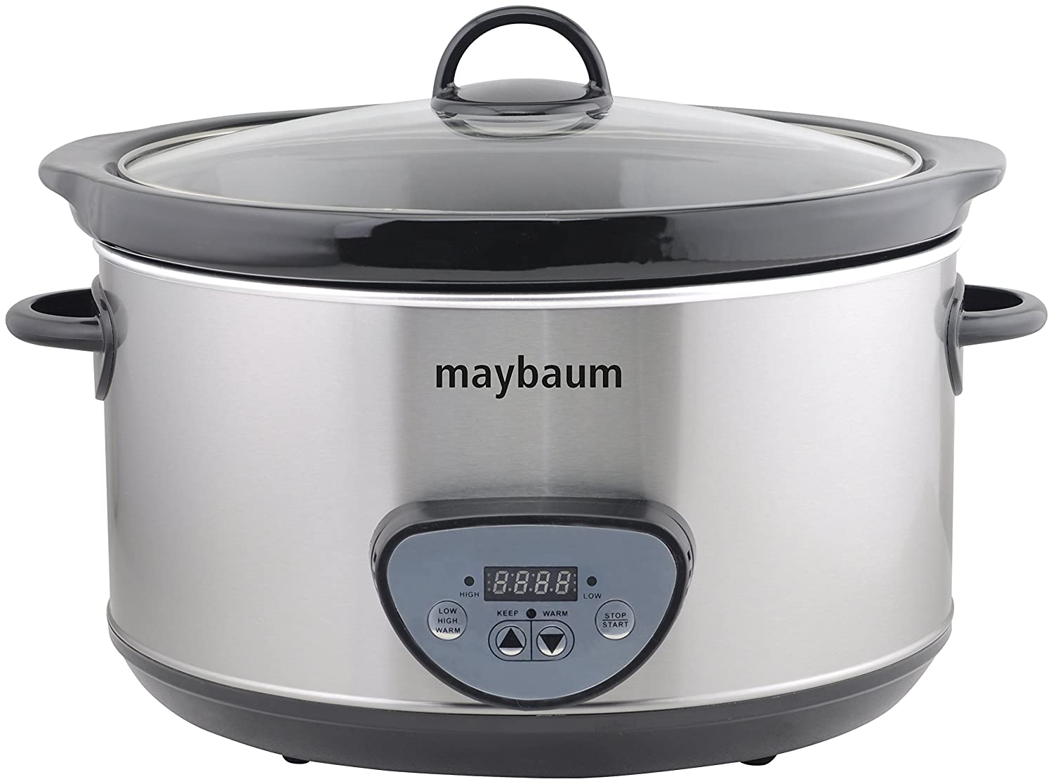 Maybaum Mayb SC 1 Slow Cooker digitale slow-cooker/per 1001 tribunali, 4,5 l, argento