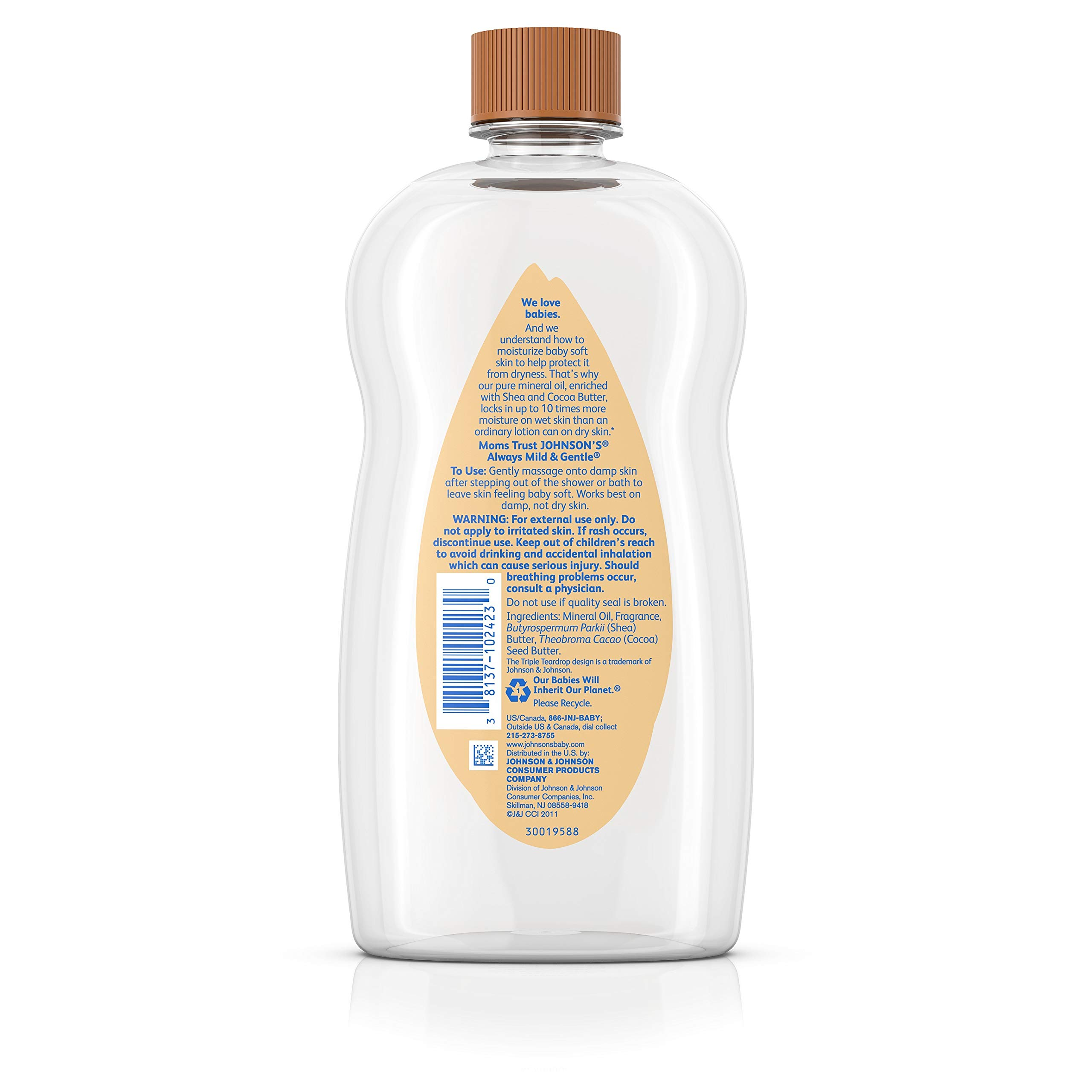 Johnson's Baby Oil With Shea & Cocoa Butter, 20 Fl. Oz by Johnson's Baby (Image #6)