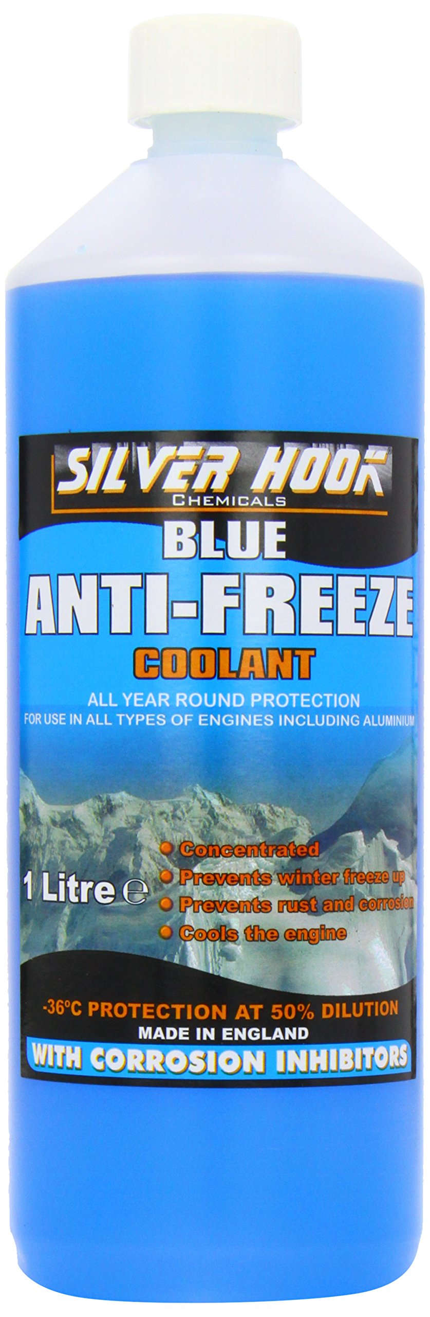 Best Rated In Antifreeze Helpful Customer Reviews Frozen Engine Coolant Silverhook Concentrated Blue 1 Litre Product Image