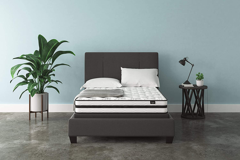 Ashley Chime 8 Inch Firm Hybrid Mattress - CertiPUR-US Certified Foam, Full: Furniture & Decor