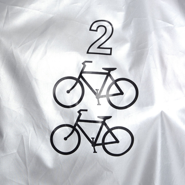 Impermeable doble 2/bicicleta patinete Lluvia Polvo Cubierta Protecci/ón de garaje Plata + Negro