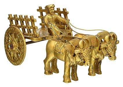 Buy Utsav Kraft Brass Bullock Cart Showpiece Elegant Brass
