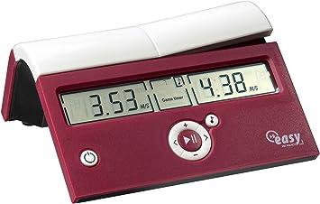 Dgt Easy Crimson Cruz, Reloj de ajedrez digital, rojo: Amazon.es ...