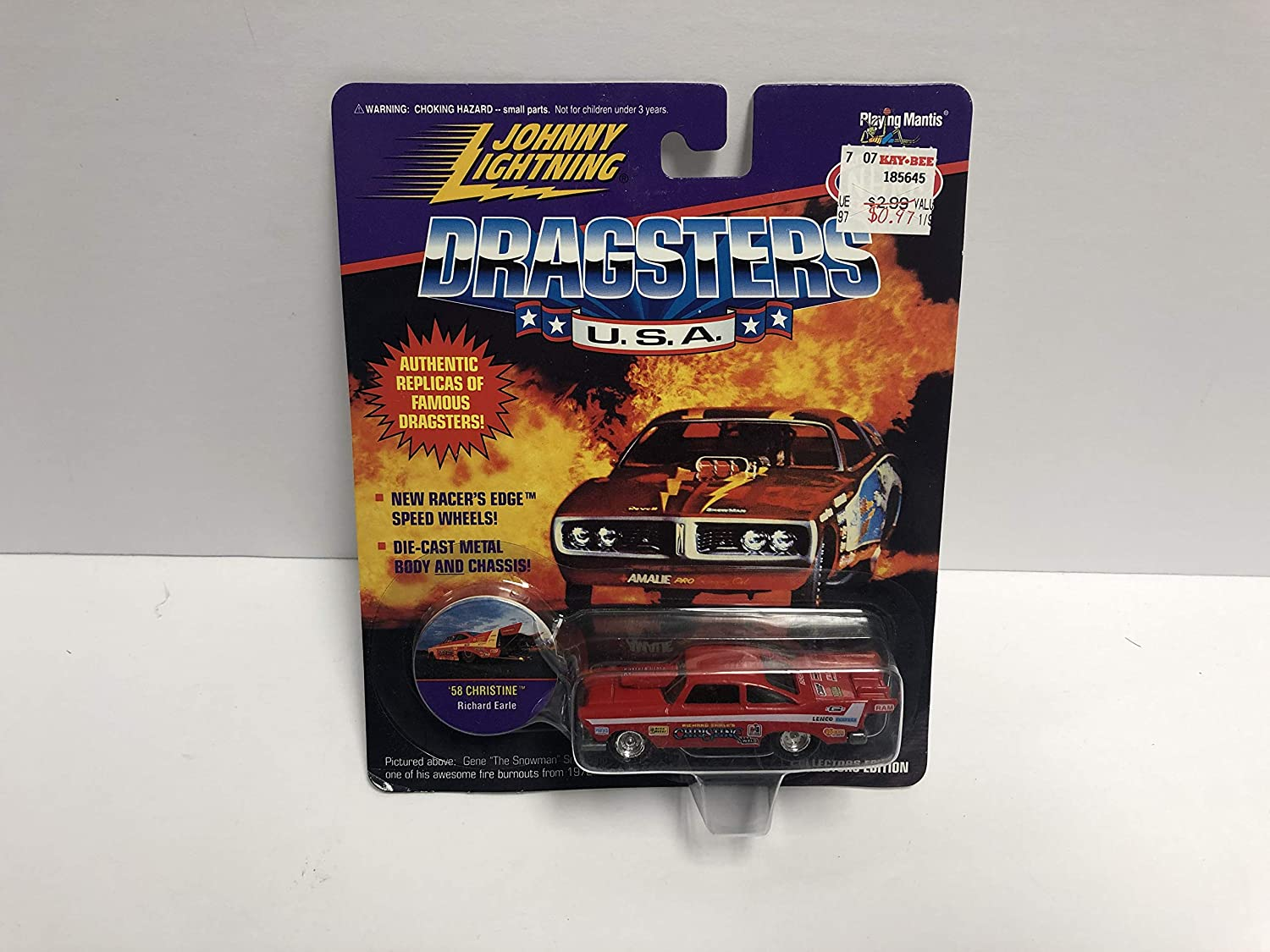 1958 58 CHRISTINE Richard Earle JOHNNY LIGHTNING 1995 NHRA Dragsters USA Limited Edition die-cast with Collectible disc