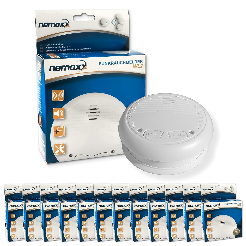 Nemaxx - Detector de humos inalámbrico (12 unidades): Amazon.es: Bricolaje y herramientas