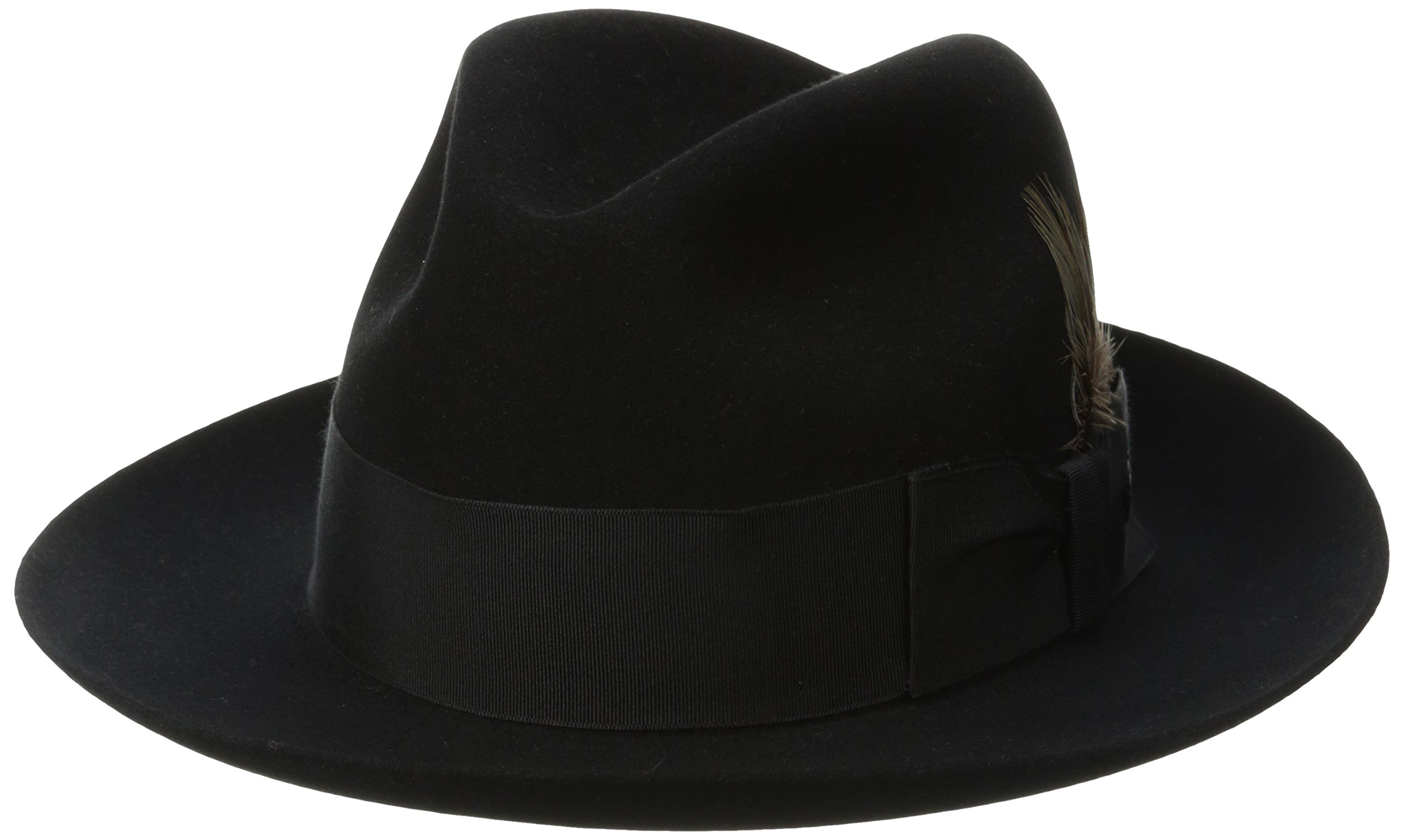 Stetson Men's Sttson Temple Royal Deluxe Fur Felt Hat, Black, 7