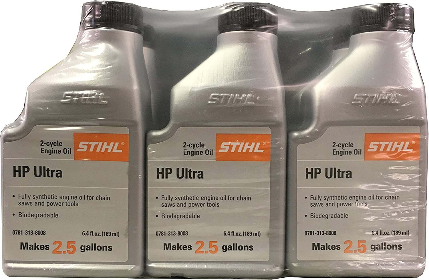 STIHL 0781 313 8010 6.4 Ounce High Performance Ultra 2 Cycle Engine Oil, 6 Pack