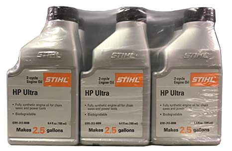 STIHL 0781 313 8010 6 4 Ounce High Performance Ultra 2 Cycle Engine Oil, 6  Pack