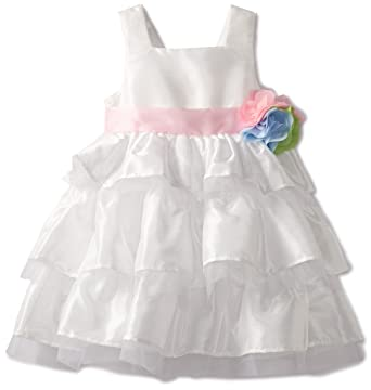 4ffb7a0e4 Amazon.com: Mud Pie Little Girls' Tiered Dress, Ivory, 3T: Special ...