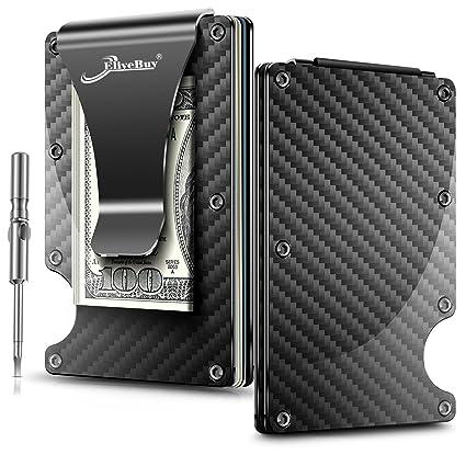 a27bc6c5094 Amazon.com  Minimalist Carbon Fibre Slim Wallet