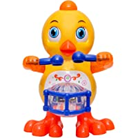 Toyshine Drums Playing Duck with Music Flashing Lights, Real Dancing Action, Multi Color