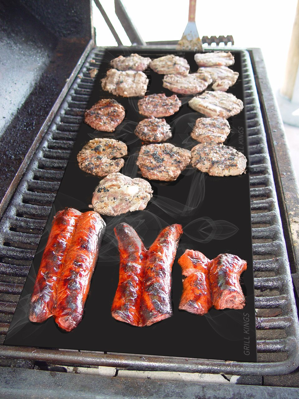 amazon com grill kings non stick barbecue grill mat for grilling