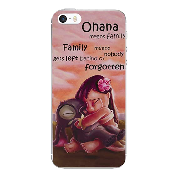 brand new 849eb 540d0 iPhone 5/5s Lilo & Stitch Silicone Phone Case / Gel Cover for Apple iPhone  5s 5 SE / Screen Protector & Cloth / iCHOOSE / Quote - Hug