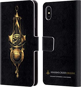Head Case Designs Officially Licensed Assassin's Creed Piece of Eden Origins Crests Leather Book Wallet Case Cover Compatible with Apple iPhone Xs Max