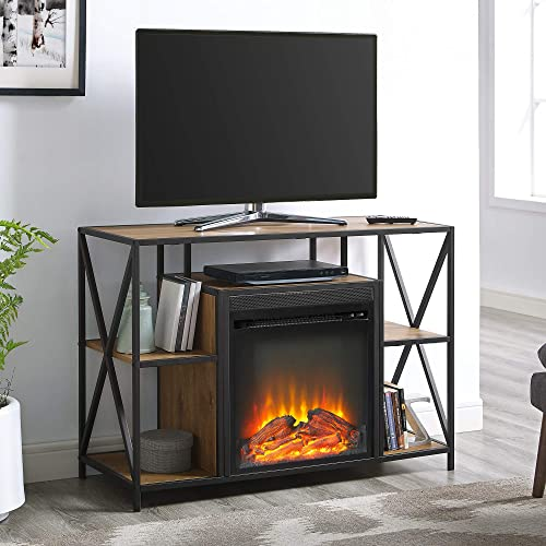 WE Furniture AZ40FPMAINBW Fireplace TV Stand
