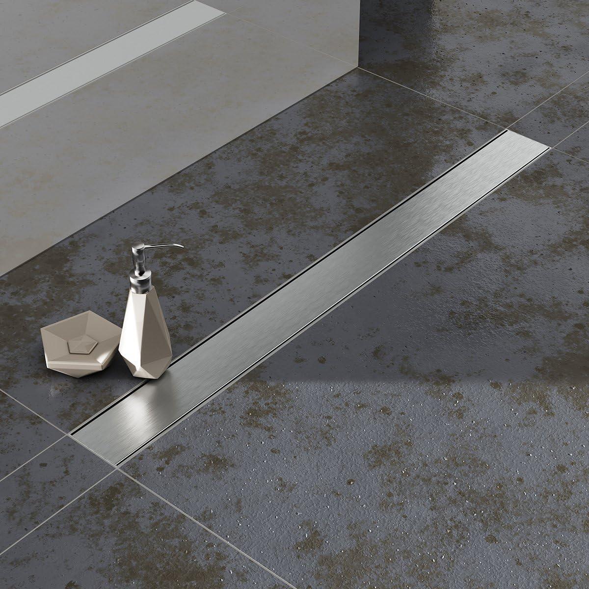 AQUABAD® SDS Professional 90 cm cubierta BORD de acero inoxidable ...