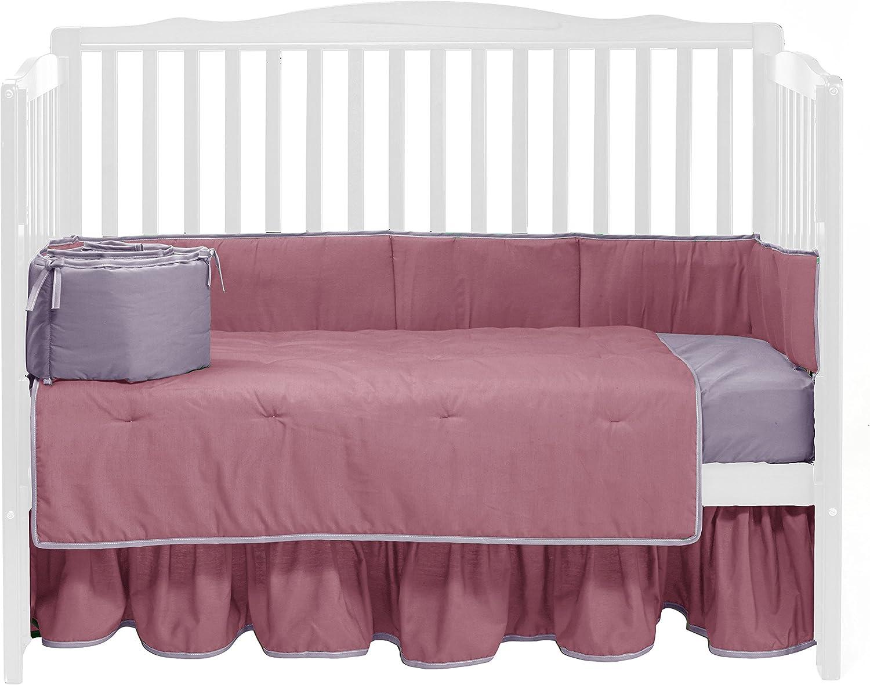 Brown//Green BabyDoll Solid Reversible Crib Dust Ruffle