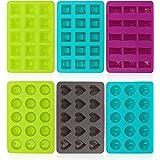 COM-FOUR® 6 moldes de silicona para bombones, moldes de praliné para 15