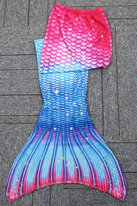 GNFUN Coda da Sirena Bambina Costume da Bagno della Ragazza con Monopinna per Nuotare Adatta a Bambina Bambino ed Adulti 110-170cm
