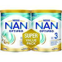 Nestlé NAN OPTIPRO Stage 3 Growing Up Milk, 1-3 years, Pack of 2 x 800g, 1.6Kg