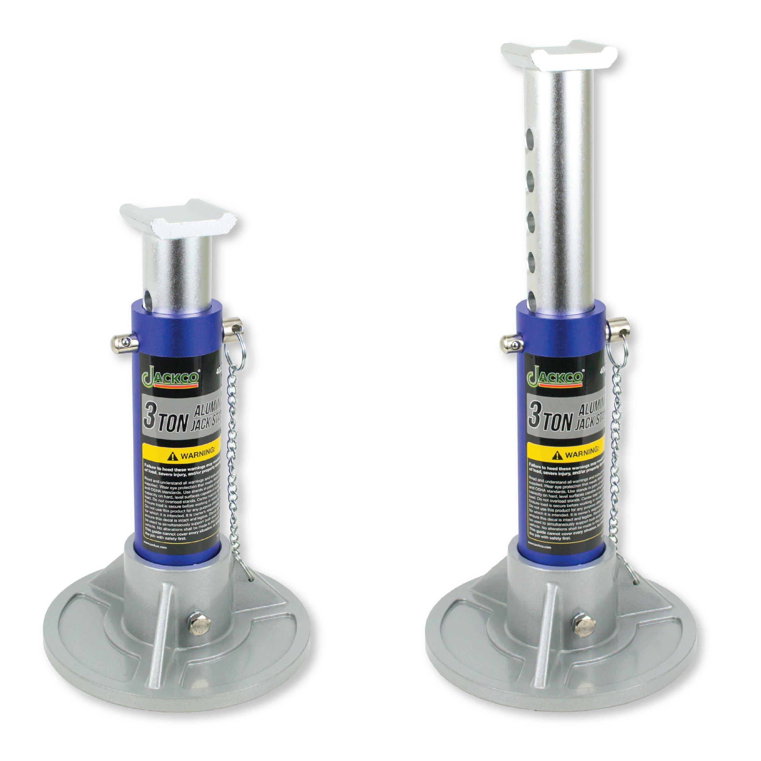 Jackco 3 Ton Capacity Aluminum Jack Stands (1 Pair) by Jackco