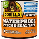 "Gorilla Waterproof Patch & Seal Tape, 4"" x 10', White (Pack of 1)"